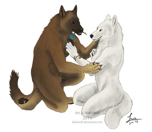 blue rose... commission - kekswolf
